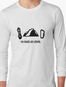 Simple needs rock climbing geek funny nerd T-Shirt