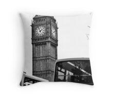 Clocks and Buses  Throw Pillow