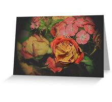 A fading Rose Greeting Card