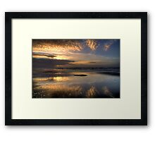 Reflections in the sand Framed Print