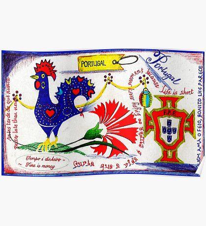 Portugal Doodle Poster