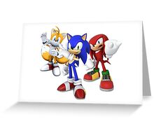 Sonic, Tails and Knuckles - Sonic the Hedgehog Greeting Card