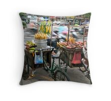 Saigon Street Vendors Throw Pillow