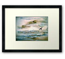 Nova Scotia...Where the Sea Meets the Sky.. Framed Print