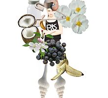 DKNY with flowers by Lenka Laskoradova