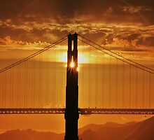 Burning Golden Gate Tower by fototaker