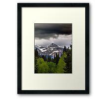 Black Cloud and a Pyramid Framed Print