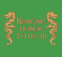 Bringing Honor To Us All Kids Clothes