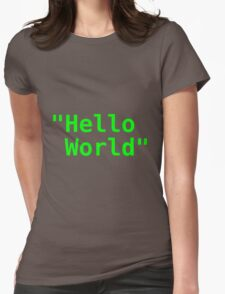 Hello world ! Womens Fitted T-Shirt
