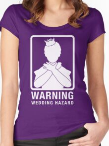 Warning: Wedding Hazard Women's Fitted Scoop T-Shirt
