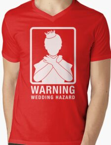 Warning: Wedding Hazard Mens V-Neck T-Shirt
