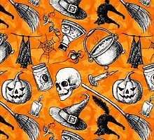 Vintage Hand Drawn Halloween by epine