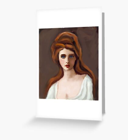 Lady Hamilton as Circe after G Romney Greeting Card