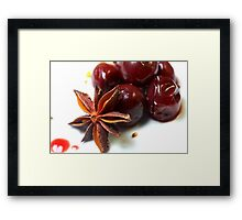 Cherries For Christmas Framed Print