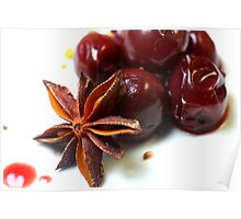 Cherries For Christmas Poster