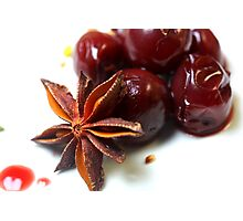 Cherries For Christmas Photographic Print