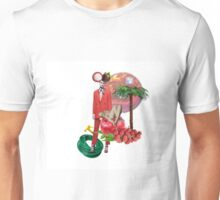 Collage with Costume National red suit Unisex T-Shirt
