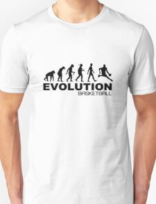 Evolution of basketball sport nba geek funny nerd T-Shirt