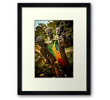 Trumpet Player - New Orleans, Louisiana Framed Print