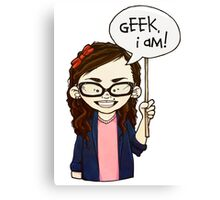 Geek I am ! Canvas Print