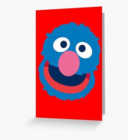 Grover head geek funny nerd Greeting Card