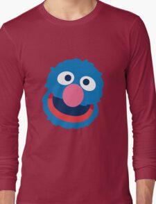 Grover head geek funny nerd Long Sleeve T-Shirt