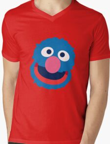 Grover head geek funny nerd Mens V-Neck T-Shirt