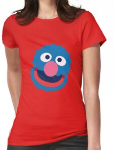 Grover head geek funny nerd Womens Fitted T-Shirt