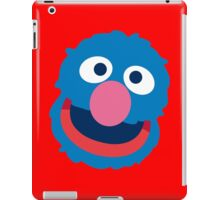 Grover head geek funny nerd iPad Case/Skin