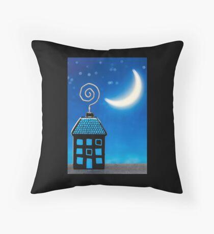 Night House Throw Pillow