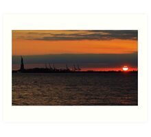 Hudson River Sunset Art Print