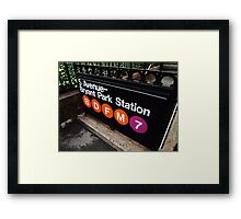 5th Avenue Subway Station Framed Print