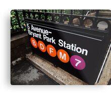 5th Avenue Subway Station Metal Print