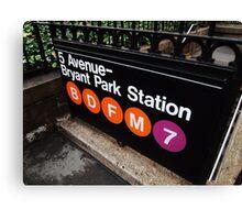 5th Avenue Subway Station Canvas Print