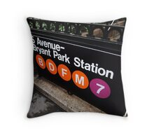 5th Avenue Subway Station Throw Pillow