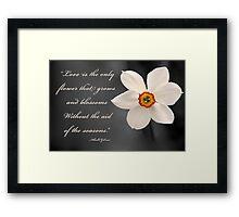 Love is The Flower Framed Print