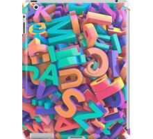 Alphabet KABLAM! iPad Case/Skin