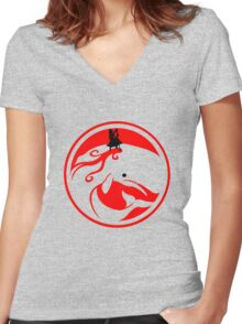 Moby dick Fun geek funny nerd Women's Fitted V-Neck T-Shirt
