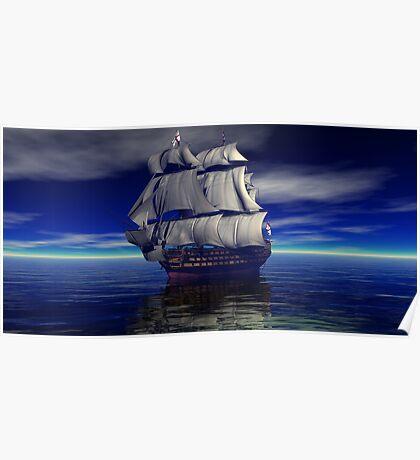 Trafalgar Bound for Glory HMS Victory Poster