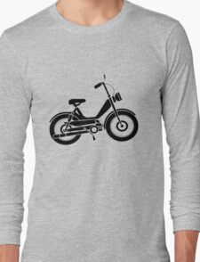 Moped bike cycle Fun geek funny nerd Long Sleeve T-Shirt