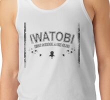 Iwatobi High School Swim Club black grunge Tank Top