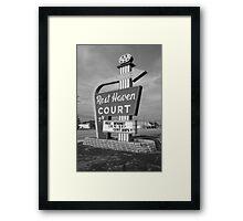 Route 66 - Rest Haven Motel Framed Print