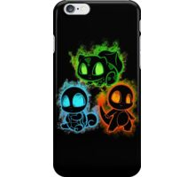 Pokemon squad 1st generation - black iPhone Case/Skin