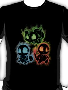Pokemon squad 1st generation - black T-Shirt
