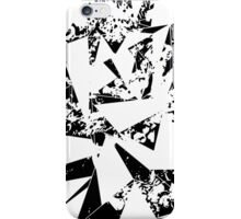 Modern Black and White Paint Splattered Triangles iPhone Case/Skin