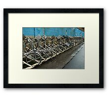 Tokyo Bicycles Framed Print