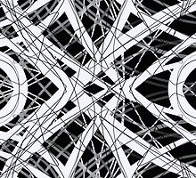 The Grid Black and White Abstract Design by Edward Fielding