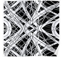 The Grid Black and White Abstract Design Poster