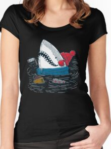 Great White North Shark Women's Fitted Scoop T-Shirt