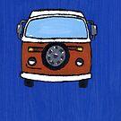 Orange & White VW camper  by vschmidt